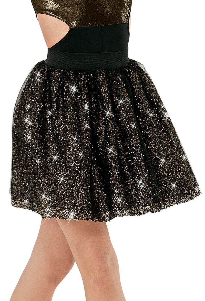Balera Mesh Sequin Circle Skirt