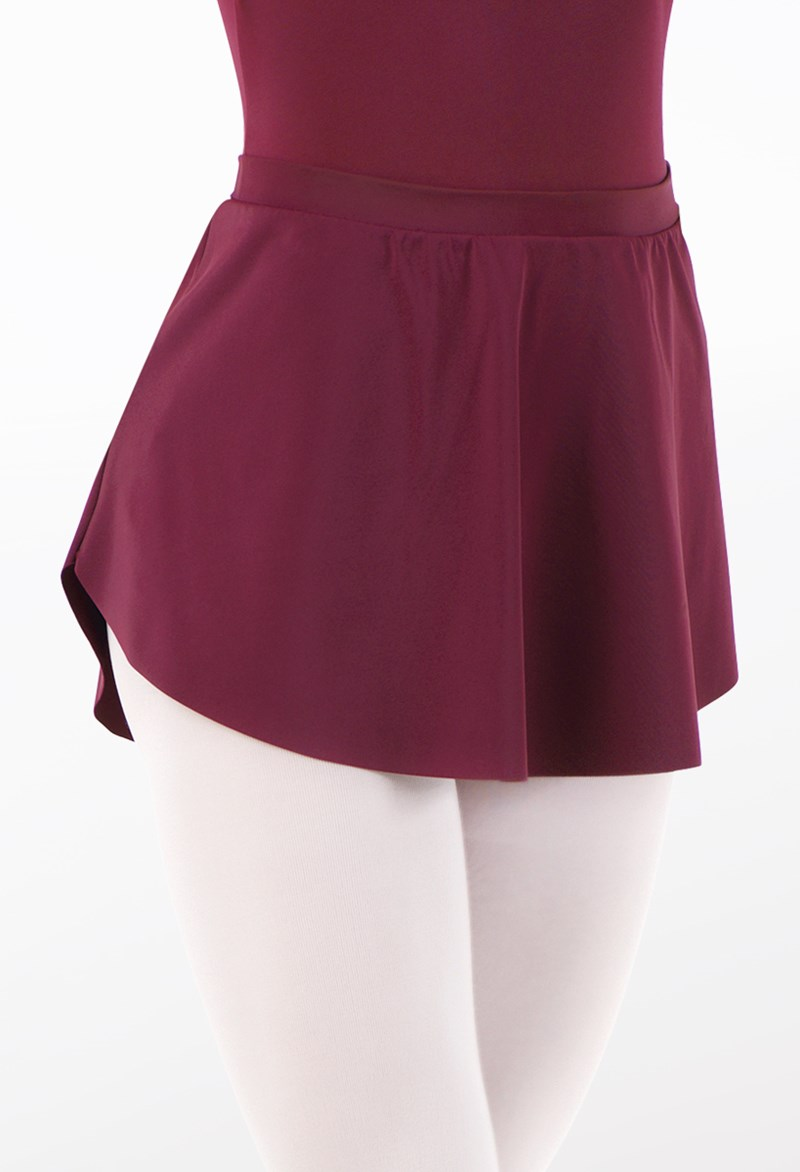 Matte Spandex High-Low Skirt