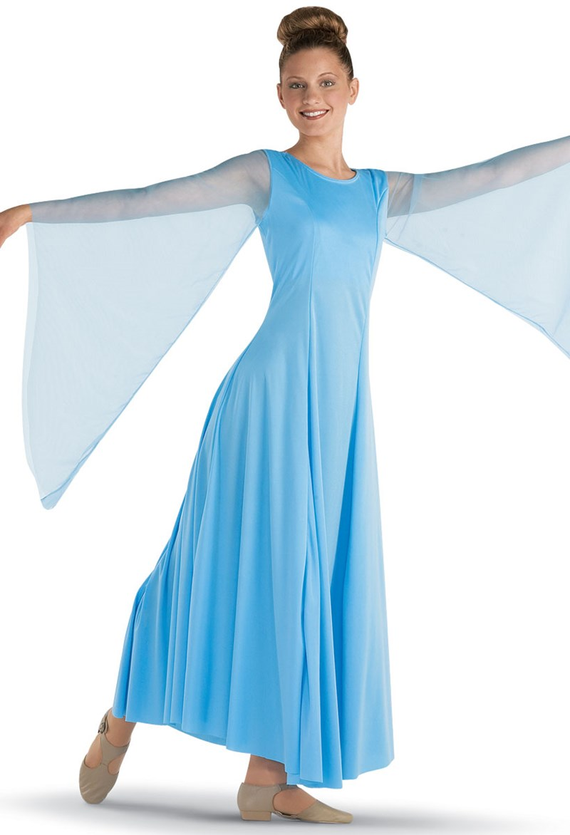 Spiritual Expressions Chiffon Angel Sleeve Dress