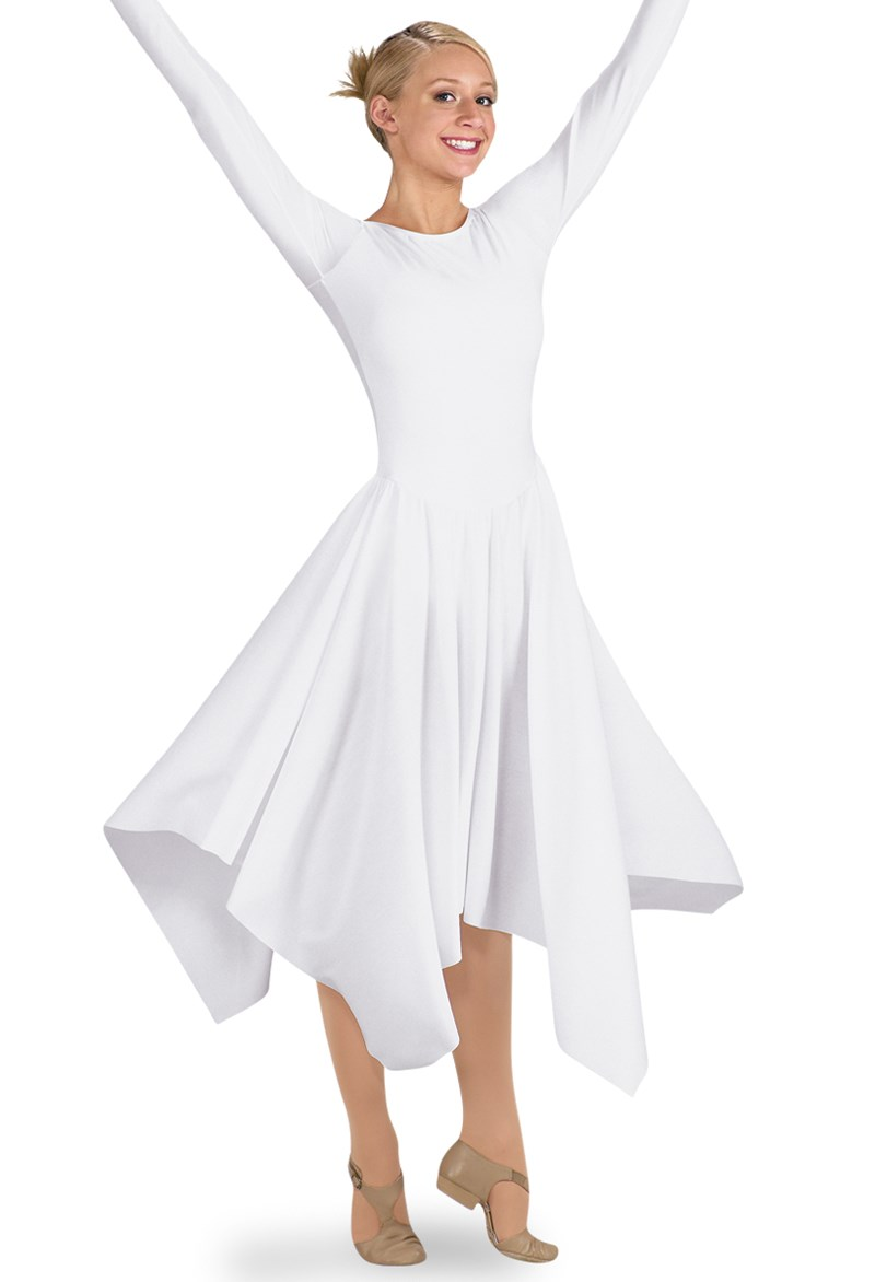 Spiritual Expressions Long-Sleeve Handkerchief Dress