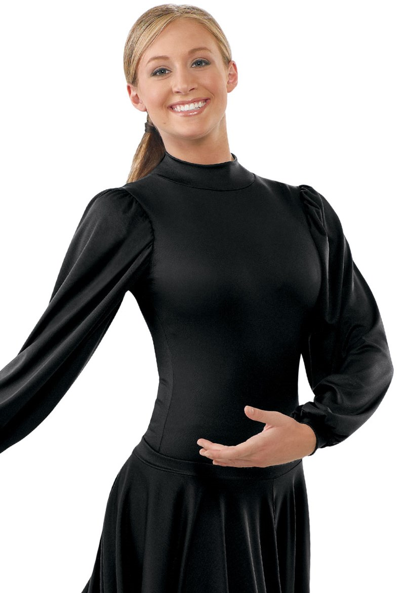 Spiritual Expressions Long Puff-Sleeve Leotard
