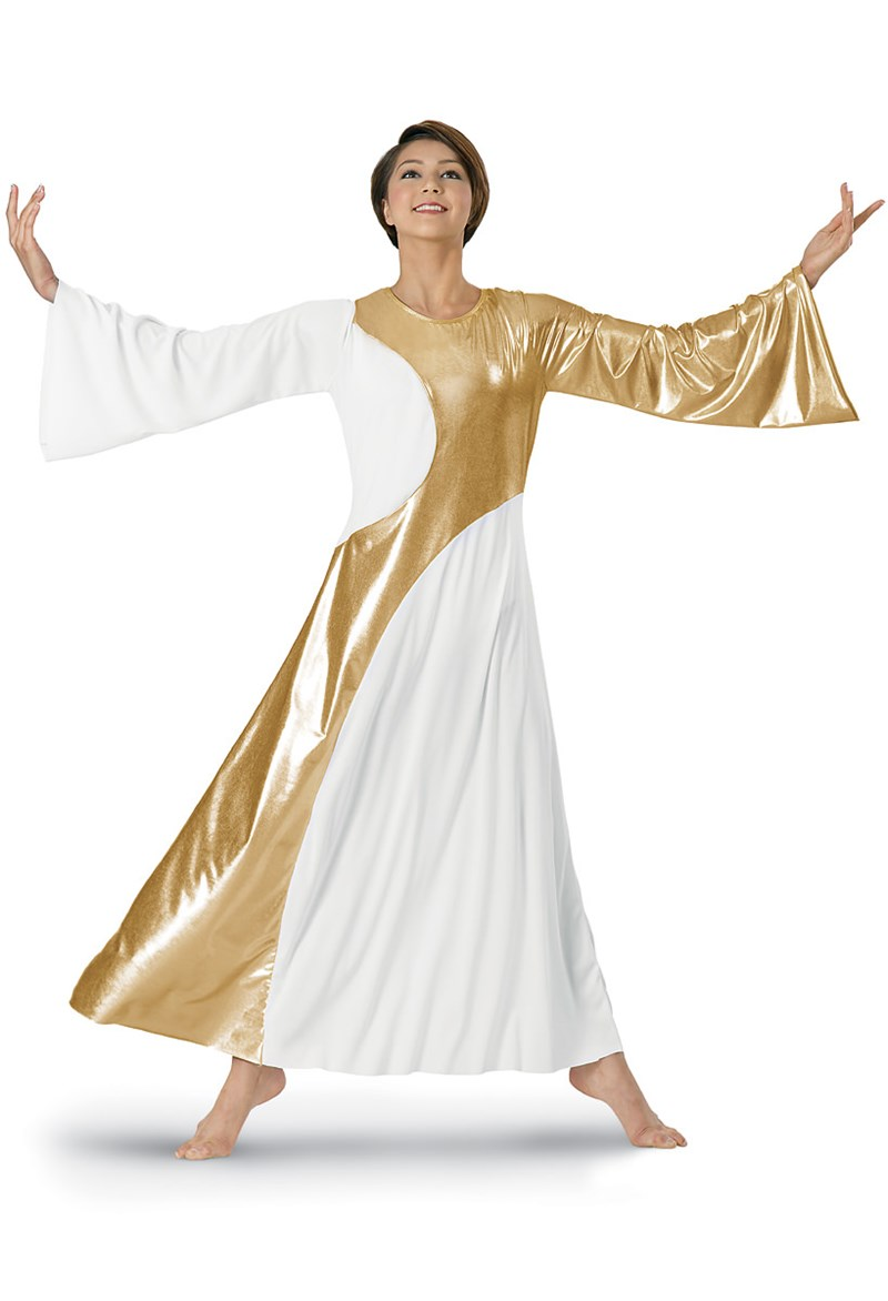 Spiritual Expressions Metallic Inset Worship Dress