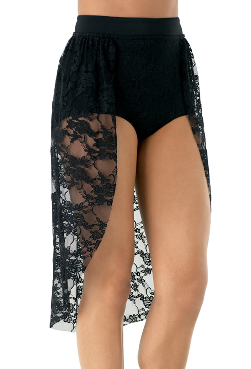 Lace Back Panel Skirt w/ Brief