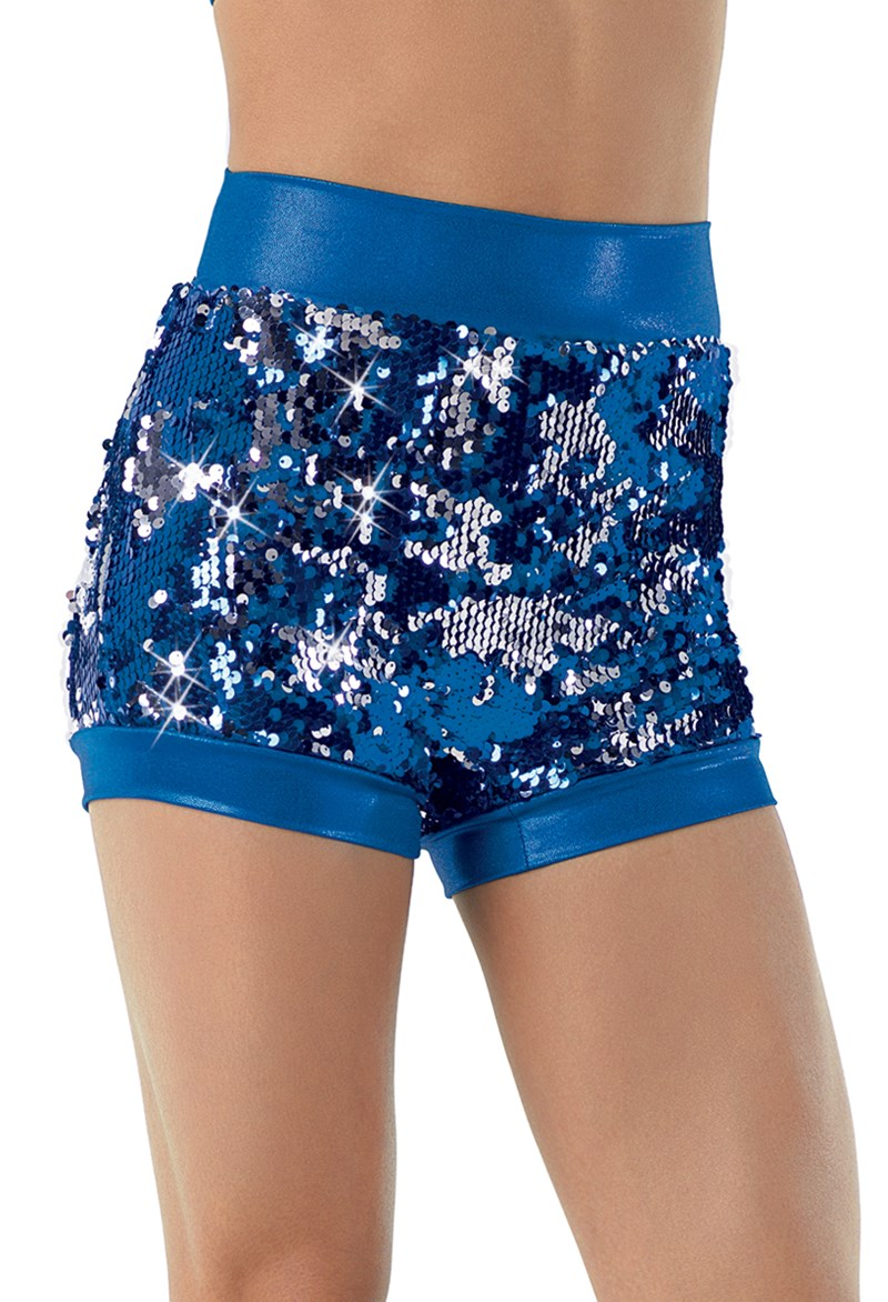 Two-Way Sequin Shorts