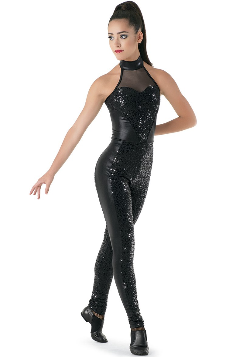 Sequin & Mesh Unitard