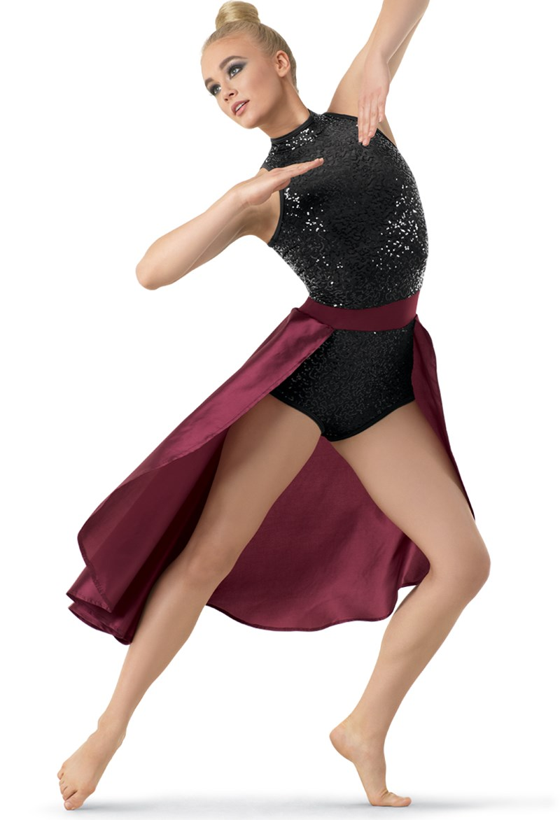 Leotard with Taffeta Skirt